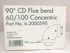 Alpha riscaldamento 90º CD CANNA FUMARIA piega 60/100 concentrico 6.2000590 IVA & consegna Inc
