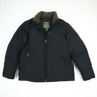 Eddie Bauer Quilted Goose Down Puffer Jacket Black Men's MEDIUM