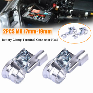 2PC M8 Car Replacement Heavy Duty Battery Top Post Cable Terminal Connector Head