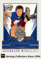 2014 Select AFL Honours Brownlow Gallery Card BG25 Kevin Murray (Fitzroy)