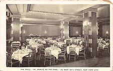NEW YORK CITY~ST MORITZ ON THE PARK~THE GRILL~50 WEST 59th STREET POSTCARD 1920s