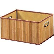 Bambus Aufbewahrungsbox Aufbewahrung Box Korb Kiste Faltbox mit Griff 20 Liter