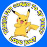 PERSONALISED POKEMON PIKACHU QUALITY GLOSS PARTY BAG, SWEET CONE STICKERS