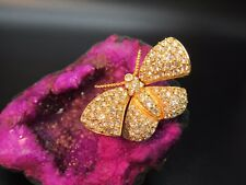 JOAN RIVERS TREMBLER BUTTERFLY MOTH PAVE CRYSTAL ARTICULATED BROOCH PIN STUNNING