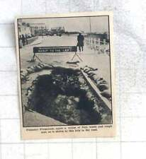 1963 Big Hole In The Road Caused By Rough Weather Penzance Promenade