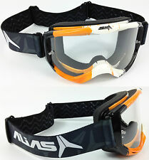 Alias Riot Motocross Mx Goggles Ktm Naranja Con claro tinte de lente Spy Tear Off