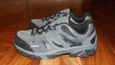 NEW Mens Hi-Tec Jason Low Gray Medium Width Leather Hiking Shoes Size 8.5