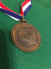 Lot of 15 Cheerleading Medals w/Red-White-Blue Lanyards.
