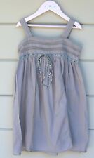 8T Bonpoint Rare Lace Khaki dress w liberty bow Stunning details Double Lining