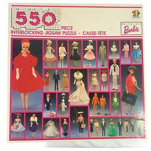 "Barbie Vintage Fashion 550 Piece Jigsaw Puzzle Designer Mattel 1989 18""x24"" Doll"
