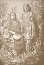 'Gayetenito & Squaw' Navajo Indian Chief Indigenous Old West Series Postcard D23