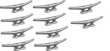 """MARINE DOCK CLEAT 5"""" GALVANIZED OPEN BASE BOAT 10 PACK"""