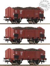 ROCO 76199 set 3 carri merci aperti FS  carico carbone ep. III - 1/87
