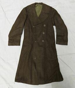 U.S. Army WW2 Long Wool Overcoat 1940's Size 36-38