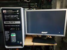 "Compaq Presario sr1650nx, AMD64, 1GBram, 80GBhd, Ubuntu, 19""Mon. Keyboard, Mouse"