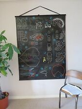 VINTAGE DR AUZOUX P SOUGY PULL DOWN SCHOOL WALL CHALK CHART OF FERN REPRODUCTION