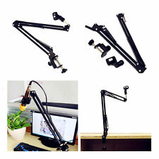 Desk Mic Microphone Suspension Boom Scissor Arm Stand Shock Mount Adjustable EO