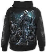 SPIRAL DIRECT DANCE OF DEATH Full ZIP Hoodie Biker/Skull/Grim Reaper/Goth/Hoody