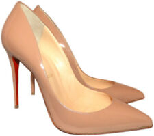 Christian Louboutin Nude Patent Leather Pigalle Pointed Toe Pump  Shoes 40