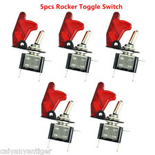 5× 12V  Red Light Rocker Toggle Switch SPST ON/OFF Car Truck Boat 2Pin Hot Sale