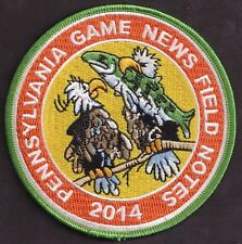 """Pa Penna Pennsylvania Game Commission NEW 2014 Pa Game News Field Notes 4"""" Patch"""