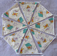 Cream Winnie the Pooh and Piglet Pillow Fight Fun Fabric Bunting (3 metres).
