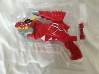 Power Rangers Dino Charge Red T-Rex Morpher Blaster with Charger New in Plastic