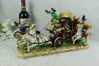 XL German potschappel DRESDEN porcelain mark large Coach carriage princess group