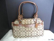 Authentic COACH Penelope Khaki Brown Canvas Signature Satchel F14695 Bag Handbag