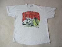 VINTAGE Chicago Blackhawks Shirt Adult 2XL XXL Gray Red NHL Hockey Mens 90s *