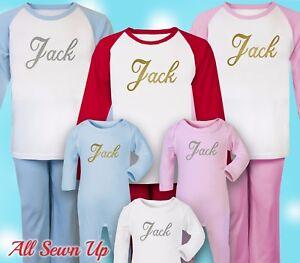 Personalised Christmas Pyjamas - 100% cotton xmas gift. Christmas eve - Name