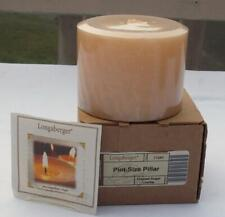New Longaberger Pint Size Pillar Candle Frosted Sugar Cookie 3 1/2""