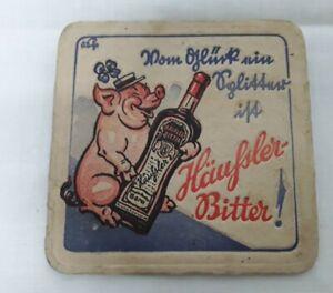 alter  Bierdeckel Häussler Häußler  Bitter Gera Reklame Werbung