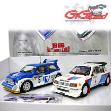 SCALEXTRIC 1:32 RALLY MONTE CARLO 86 TWO SLOT CAR SET PEUGEOT 205 MG METRO 3590