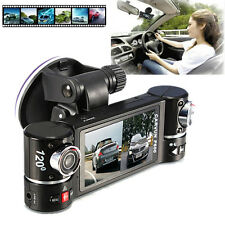 "2.7"" HD Dual Lens Car Vehicle Dash Camera DVR IR Cam Night Vision Recorder UK"