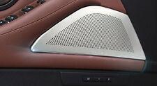 Auto Front Door Speaker Covers Trim 2pcs For BMW 5 Series F10 520 525 2011-2015