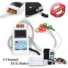 CE New 3 Channel Contec TLC9803 ECG/EKG Holter Monitor System,Dynamic ECG System