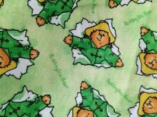 OOP 2007 Paddington Bear Green on Green cotton fabric by Quilting Treasures