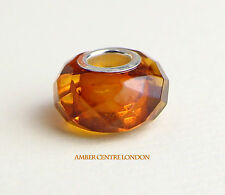 Amber Trolls Baltic Amber & 925 Silver Faceted Charm -CHA73 RRP£40!!!