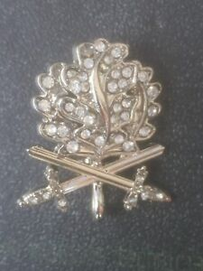 German Knights Cross Oakleaves and Swords in Silver  with Diamonds