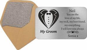 Personalised Wallet Card Usher Best Man Groomsman Father of Bride Gift Keepsake