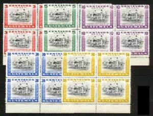 Guatemala Sc C 158 to 62 Bl of 4 MINT NH  VF See DESCRIPTION SCAN