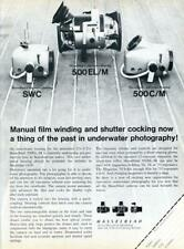 1976 Hasselblad PRINT AD Scuba Diver Underwater Photography Camera and Housing