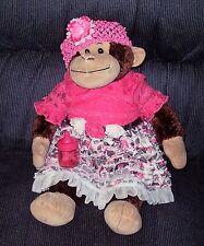 "Build A Bear Workshop Large 20"" Monkey/Chimp Plush with Monkey Sounds Girl"