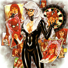 BLACK CAT Signed ART PRINT Mark Brooks AMAZING SPIDER-MAN Renew Your Vows #1 NEW