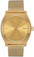 Nixon Time Teller Milanese All Gold Watch A1187 502 / A1187-502 / A1187502