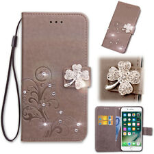 SD FourLeaf Bling-B Strap Leather Wallet Card Case Cover For Leagoo M8 M5 Vivo