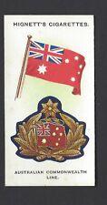 HIGNETT - SHIPS, FLAGS & CAP BADGES - #8 AUSTRALIAN COMMONWEALTH LINE