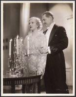 KAREN MORLEY & LIONEL BARRYMORE 1932 Vintage Orig Photo WASHINGTON MASQUERADE