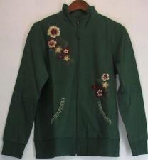 Floral 100% Cotton Basic Coats, Jackets & Vests for Women